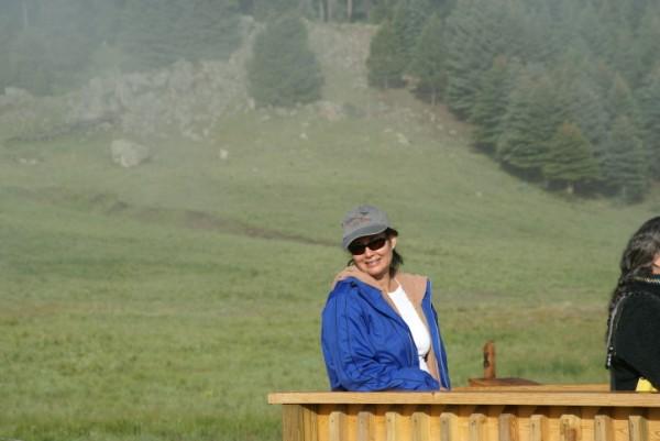 Marijane Pasquale at Valles Caldera Staging Area